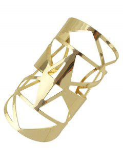 Hollow Out Cuff Geometric Bracelet - Golden