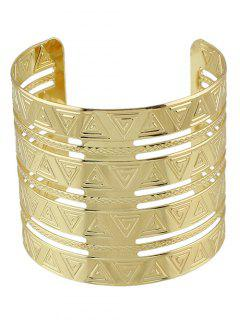 Punk Gravé Triangle Alloy Bracelet - Or