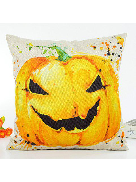 shop Halloween Pumpkin Printing Design Sofa Cushion Pillow Case - BEIGE  Mobile