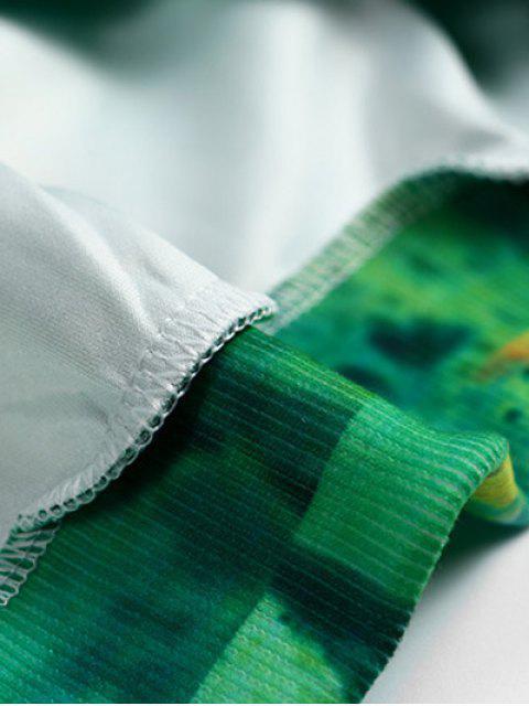 hot Round Neck Cactus Print Sweatshirt - GREEN ONE SIZE Mobile