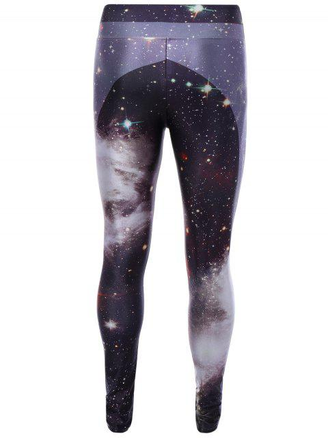 latest 3D Starry Sky Print Skinny Gym Leggings - COLORMIX ONE SIZE Mobile