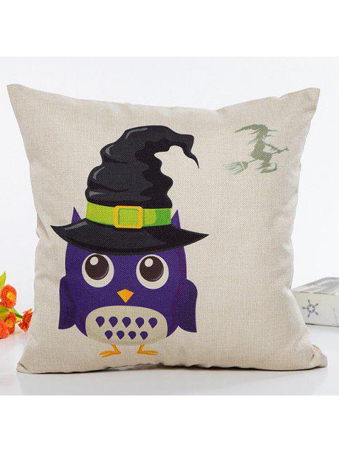 Motif Owl Halloween chapeau de sorcière Canapé Coussin Taie - RAL1001Beige  Mobile
