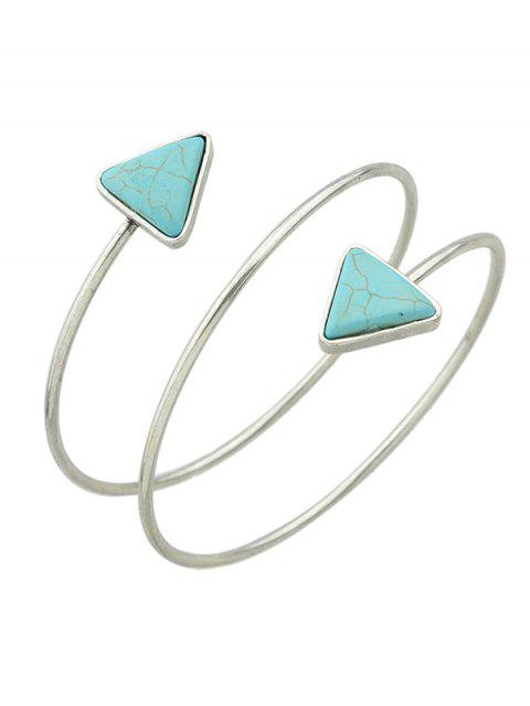 Chain Triangle Faux Turquoise Arm - Argent  Mobile