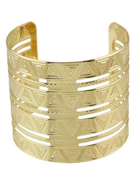 Punk Gravé Triangle Alloy Bracelet - Or  Mobile