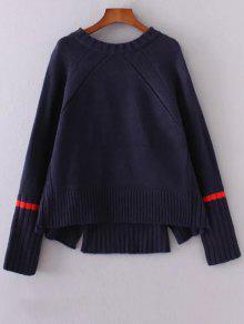 Entailler High-Low Sweater - Bleu Violet