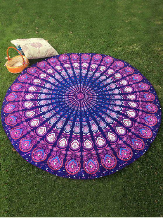 sale Arab Print Round Beach Throw - PURPLE ONE SIZE