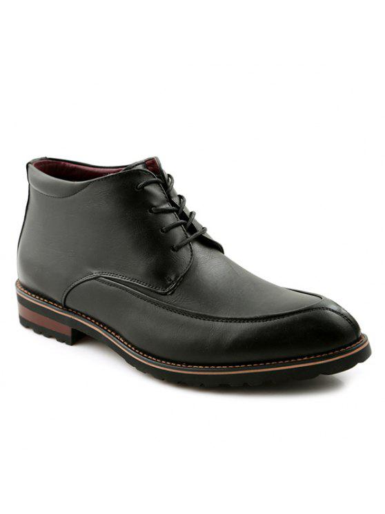 الدانتيل يصل اصبع القدم بو الجلود أحذية رسمية - أسود 40