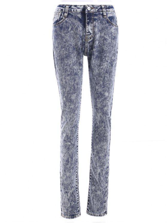 Frais taille haute neige Wash Skinny Jeans - Multicolore L
