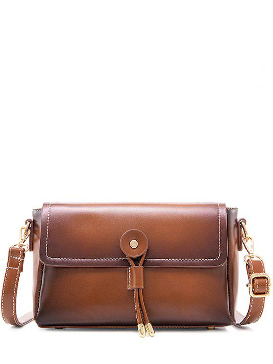 latest Vintage Stitching Crossbody Bag - BROWN