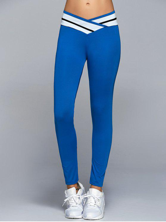 lady Skinny Active Leggings - BLUE XL