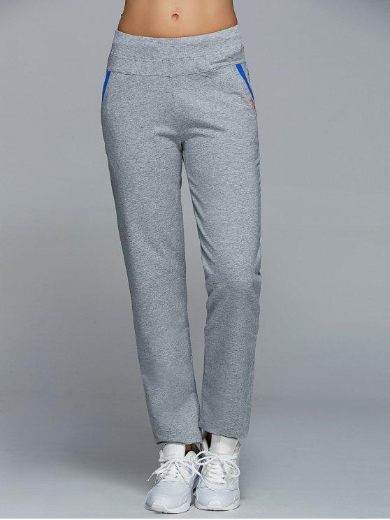 lady Jogging Pants With Pockets - LIGHT GRAY M