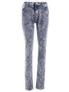 Snow Wash Skinny Jeans - L
