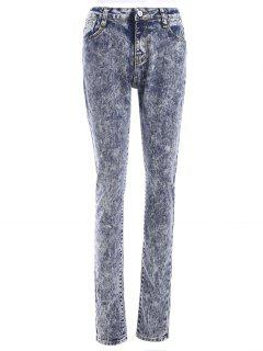 Snow Wash Skinny Jeans - M
