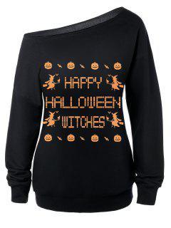Witches Halloween Sweatshirt - Black M