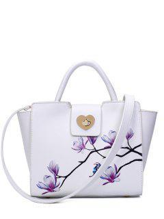 Winged Magnolia Imprimer Sac Fourre-tout - Blanc