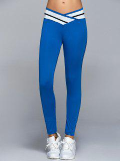 Skinny Active Leggings - Blue Xl