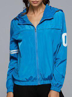 Veste à Capuche Coupe Vent Zippée - Bleu Océan S