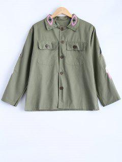 Embroidered Utility Jacket - Army Green