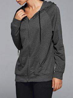 Active Zip Up Hoodie - Deep Gray L