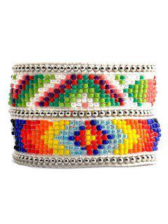 Pulsera De Cuentas Geométrico Multicolor