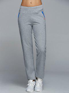 Jogging Pants With Pockets - Light Gray S