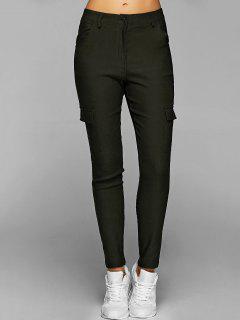 Casual Poches Multiples Pantalons - Vert Armée S