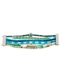 Faux Turquoise Bracelet En Perles - Turquoise