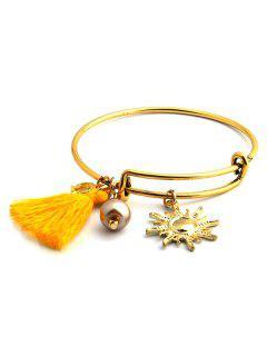 Adjustable Sun Tassel Bracelet - Daffodil