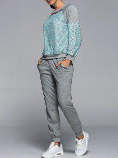 Sweatshirt With Pants Twinset - Green S