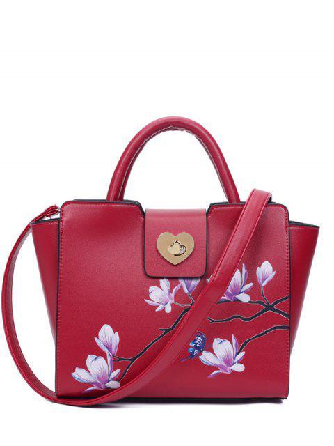 Winged Magnolia Imprimer Sac fourre-tout - Rouge  Mobile