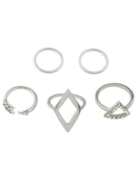 women's Alloy Rhinestone Triangle Jewelry Set Rings -   Mobile