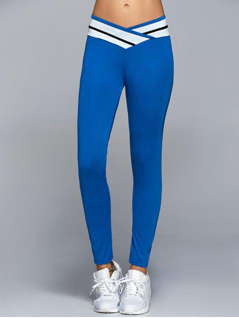 lady Skinny Active Leggings - BLUE XL Mobile