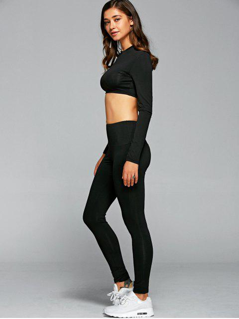 lady T-Shirt With Leggings Gym Outfits -   Mobile