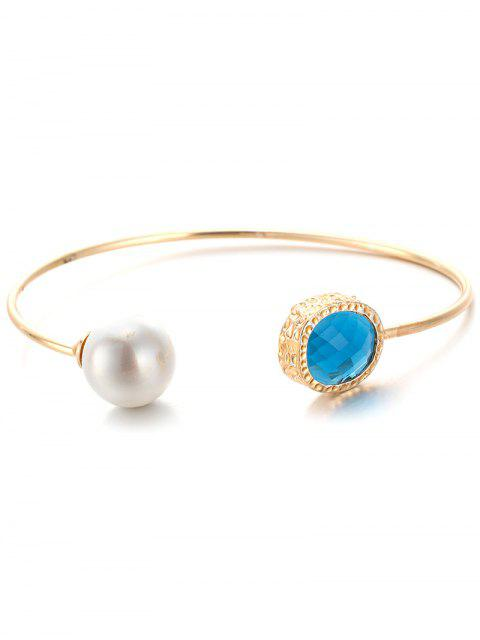 buy Faux Crystal Pearl Cuff Bracelet -   Mobile