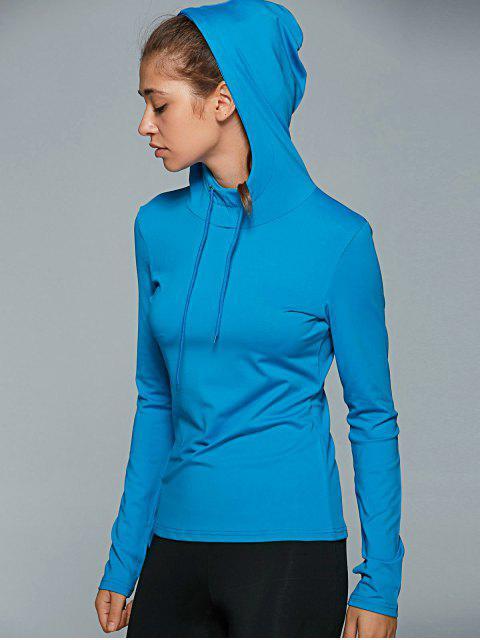 hot Hooded Drawstring T-Shirt -   Mobile
