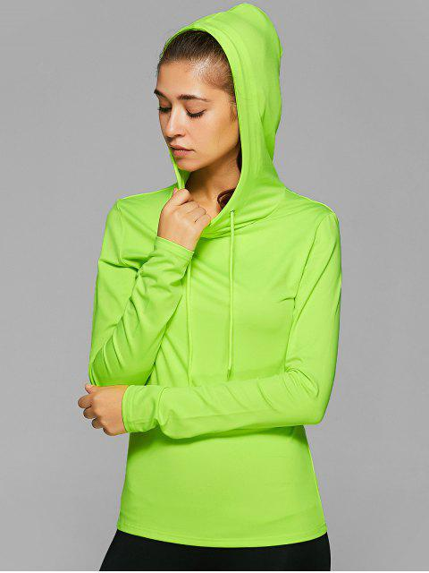 shop Hooded Drawstring T-Shirt -   Mobile