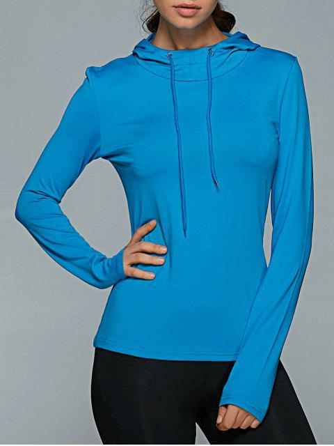 outfit Hooded Drawstring T-Shirt - BLUE M Mobile