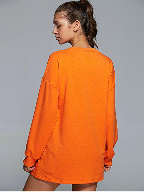 fashion Long Sleeve Letter Pattern Gym Sweatshirt -   Mobile