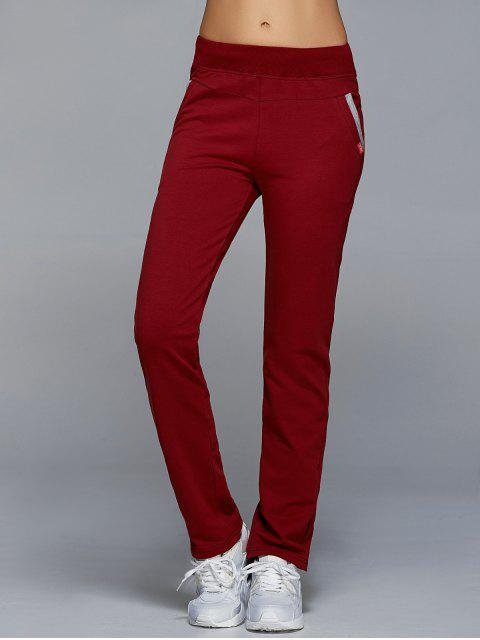 online Jogging Pants With Pockets - WINE RED 3XL Mobile