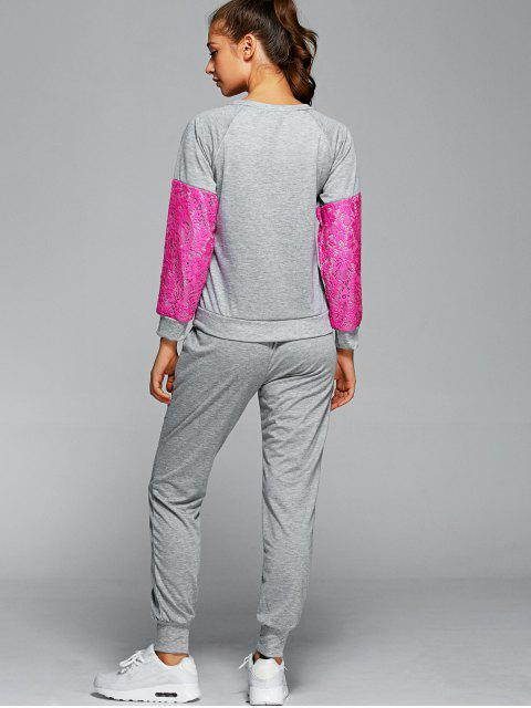 Sweatshirt mit Hosen Twinset - Rosenrot S Mobile