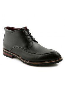 الدانتيل يصل اصبع القدم بو الجلود أحذية رسمية - أسود 41