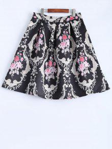 Pleated Midi Skirt - Black M