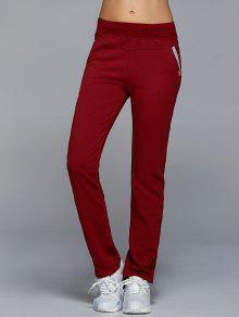 الركض السراويل مع جيوب - نبيذ أحمر S