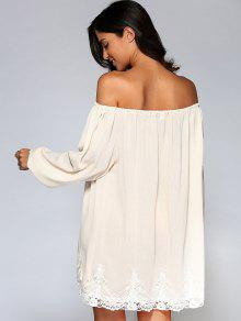 White Flowy Off the Shoulder Dress