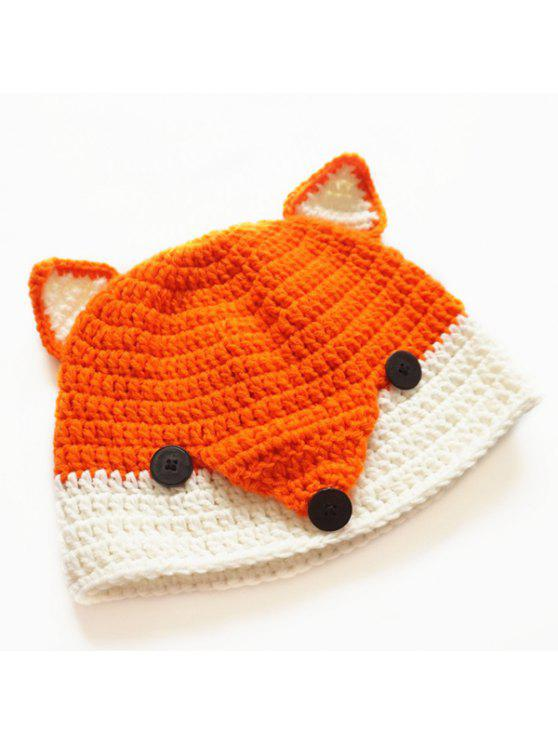 الأزرار، أربك، محبوك، القبعة - البرتقالي