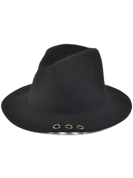 2019 Floppy Metal Ring Jazz Hat In BLACK  60226215729