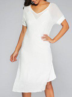 Ver-Por La Alta Cubierta De Hendidura Vestir Y Vestido De Cami - Blanco S