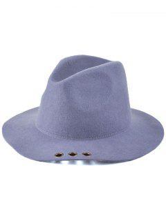 Floppy Metal Ring Jazz Hat - Gray