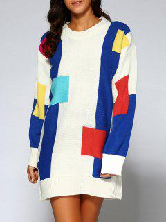 Color Block Pull Oversize - Blanc