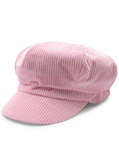 Outdoor Keep Warm Corduroy Newsboy Hat - Rose PÂle